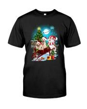 Labrador Retriever and snowman funny Classic T-Shirt thumbnail