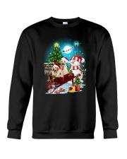 Labrador Retriever and snowman funny Crewneck Sweatshirt front