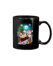 Labrador Retriever and snowman funny Mug thumbnail