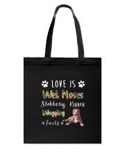 American Pit Bull Terrier Love Is Tote Bag tile