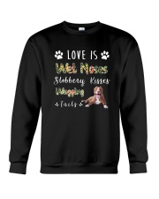 American Pit Bull Terrier Love Is Crewneck Sweatshirt thumbnail