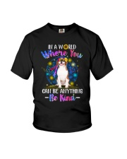 Beagle and hippie Youth T-Shirt thumbnail