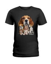Beagle Awesome Family 0501 Ladies T-Shirt thumbnail