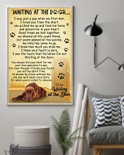 Irish Setter Waiting at the Door 11x17 Poster lifestyle-poster-1