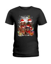 ZEUS - Dachshund Christmas- 2809 - 73 Ladies T-Shirt thumbnail