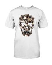 Pug Skull 1012 Classic T-Shirt front