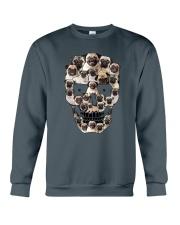 Pug Skull 1012 Crewneck Sweatshirt thumbnail