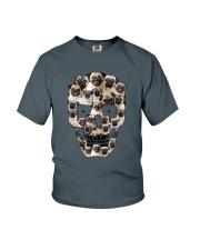 Pug Skull 1012 Youth T-Shirt thumbnail