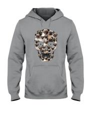 Pug Skull 1012 Hooded Sweatshirt thumbnail