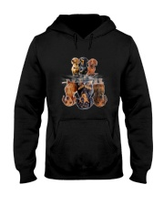 ZEUS - Dachshund Dreaming - 2809 - A7 Hooded Sweatshirt front