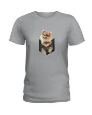 Pomeranian Pocket 1012 Ladies T-Shirt thumbnail
