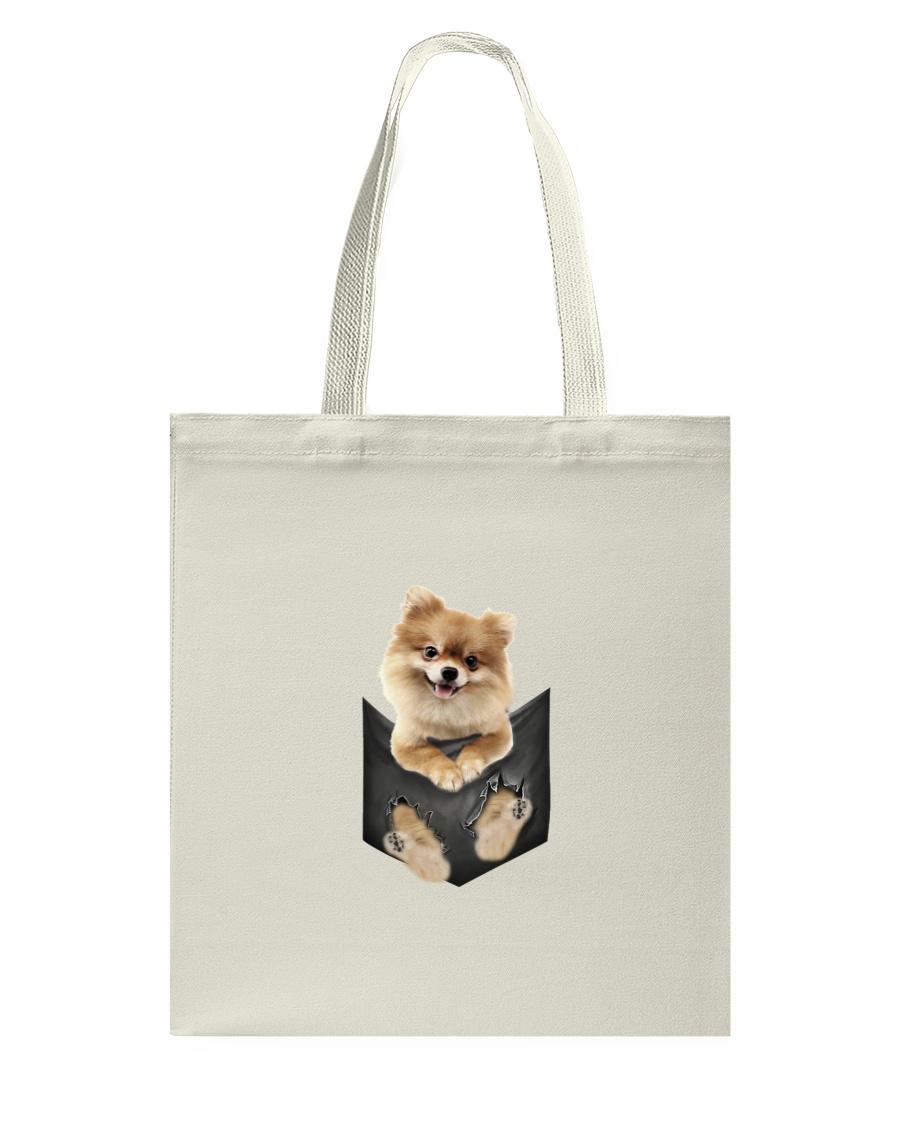 Pomeranian Pocket 1012 Tote Bag
