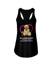 In A Relationship Golden Retriever  Ladies Flowy Tank thumbnail