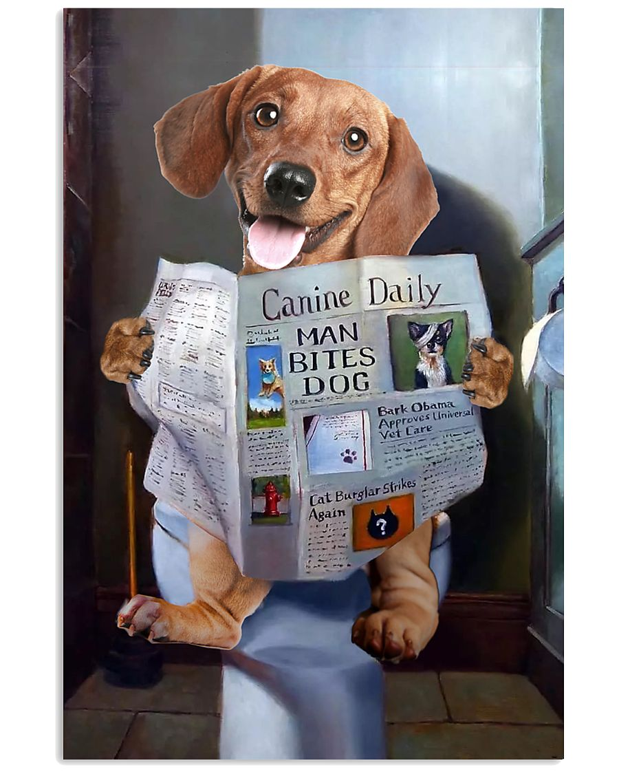 Dachshund Newspapers Poster 0501 11x17 Poster