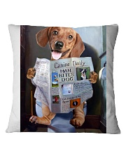 Dachshund Newspapers Poster 0501 Square Pillowcase thumbnail