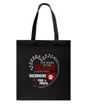 Dachshund Road To My Heart Tote Bag thumbnail