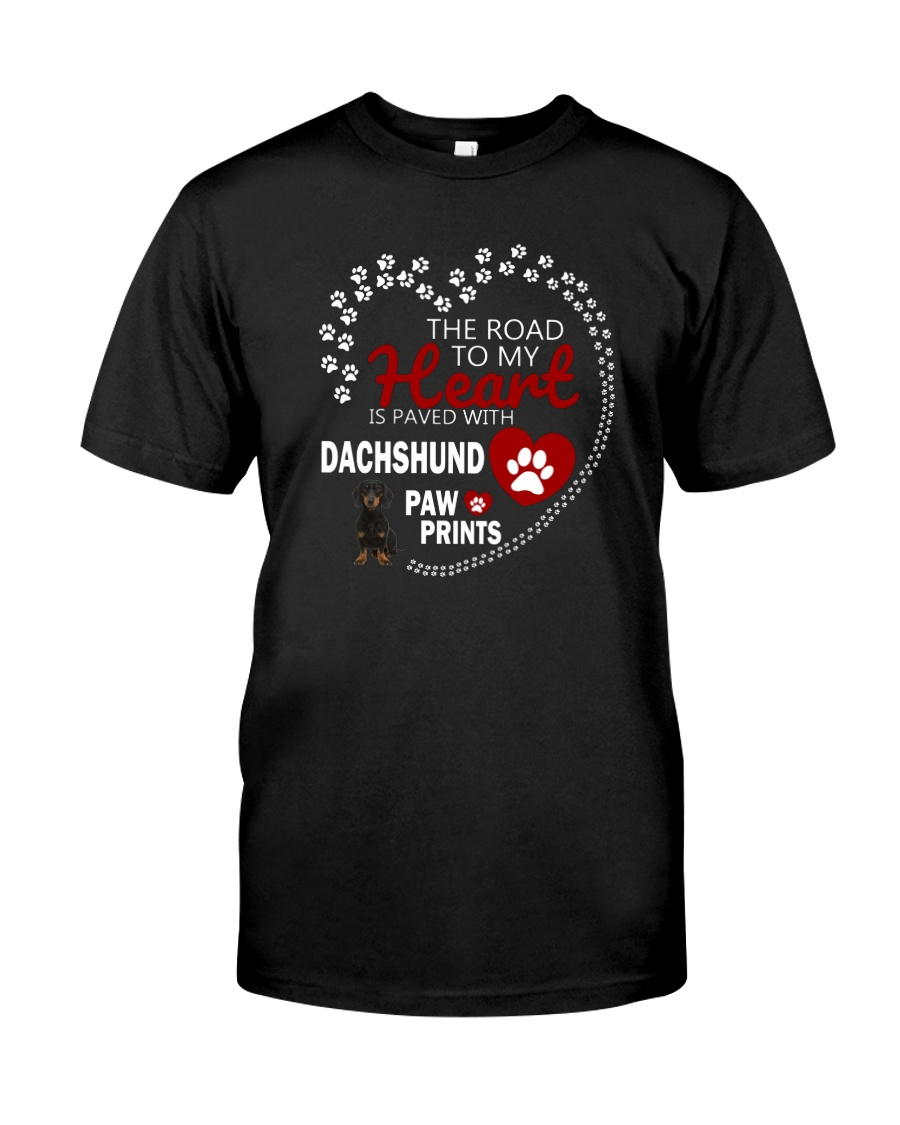 Dachshund Road To My Heart Classic T-Shirt