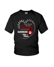 Dachshund Road To My Heart Youth T-Shirt thumbnail
