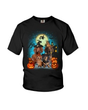 Dachshund Halloween Youth T-Shirt front