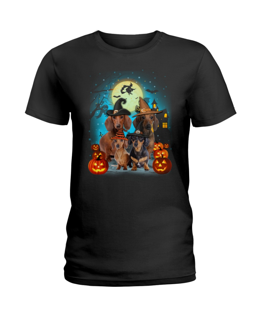 Dachshund Halloween Ladies T-Shirt