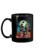 Dachshund Halloween Mug back