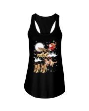 Golden Retriever Reindeers Ladies Flowy Tank thumbnail
