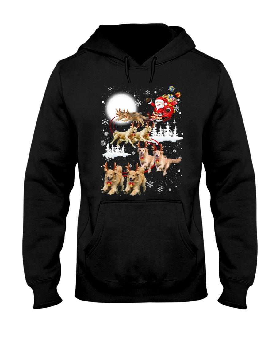 Golden Retriever Reindeers Hooded Sweatshirt