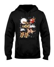 Golden Retriever Reindeers Hooded Sweatshirt front