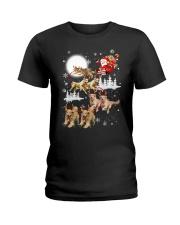 Golden Retriever Reindeers Ladies T-Shirt thumbnail
