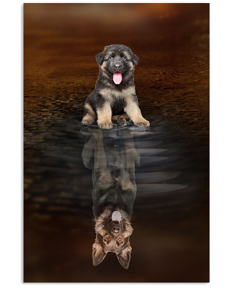German Shepherd Believe 11x17 Poster