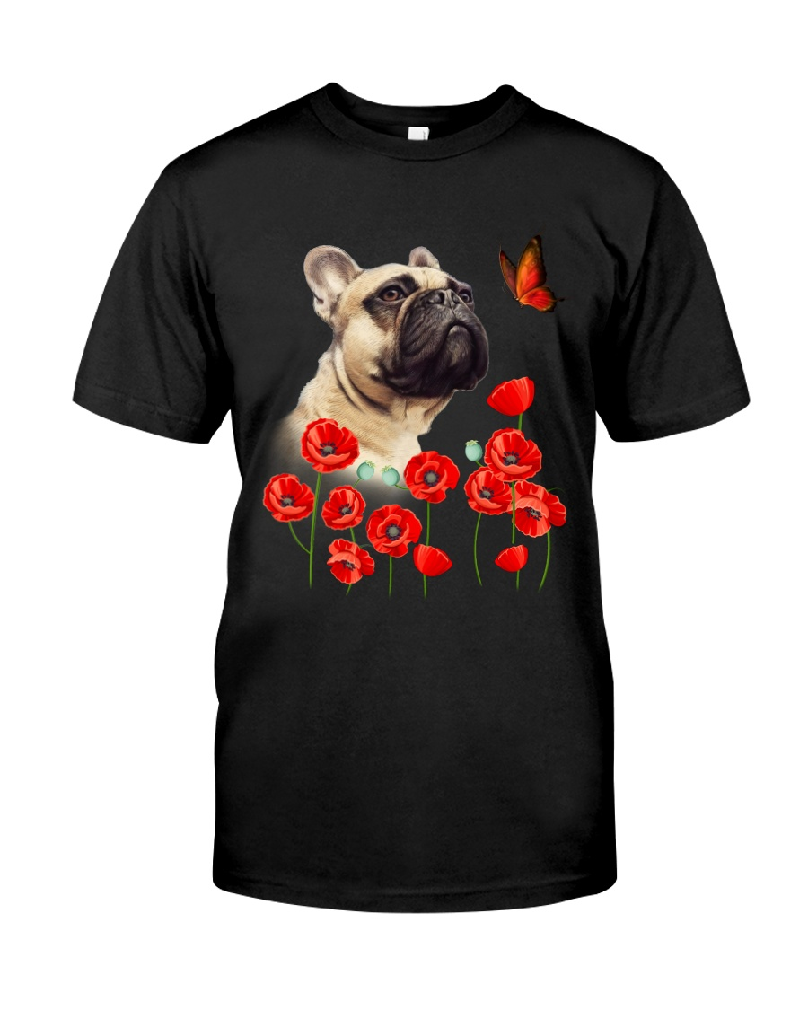 French Bulldog And Flowers Classic T-Shirt