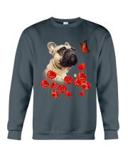 French Bulldog And Flowers Crewneck Sweatshirt thumbnail