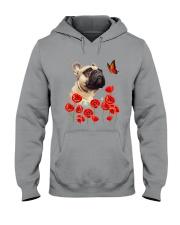 French Bulldog And Flowers Hooded Sweatshirt thumbnail