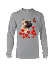 French Bulldog And Flowers Long Sleeve Tee thumbnail