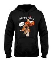 Golden Retriever Happy Pills 0210 Hooded Sweatshirt front