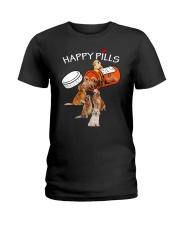 Golden Retriever Happy Pills 0210 Ladies T-Shirt thumbnail