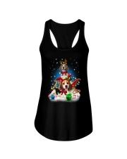 Beagle Merry Chritsmas Ladies Flowy Tank thumbnail