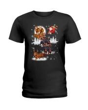 Reindeer New Dachshund Ladies T-Shirt thumbnail