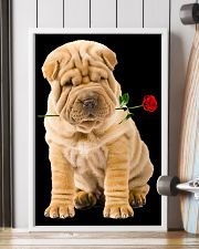 Shar Pei Rose 11x17 Poster lifestyle-poster-4