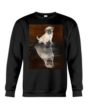 Pug Reflection Mug 1412 Crewneck Sweatshirt thumbnail
