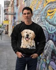 Golden Retriever Awesome Crewneck Sweatshirt lifestyle-unisex-sweatshirt-front-2