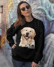 Golden Retriever Awesome Crewneck Sweatshirt lifestyle-unisex-sweatshirt-front-3