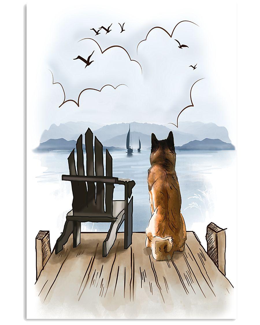 Akita Waiting 11x17 Poster