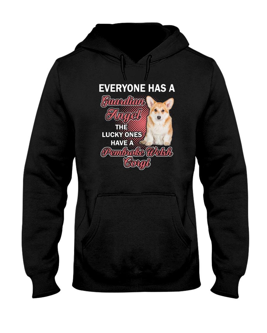 Pembroke Welsh Corgi Guardian Angel 1112 Hooded Sweatshirt