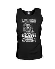 Australian Shepherd Hurt My Dog 1503 Unisex Tank thumbnail