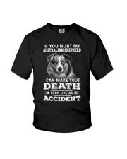 Australian Shepherd Hurt My Dog 1503 Youth T-Shirt thumbnail