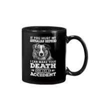 Australian Shepherd Hurt My Dog 1503 Mug thumbnail