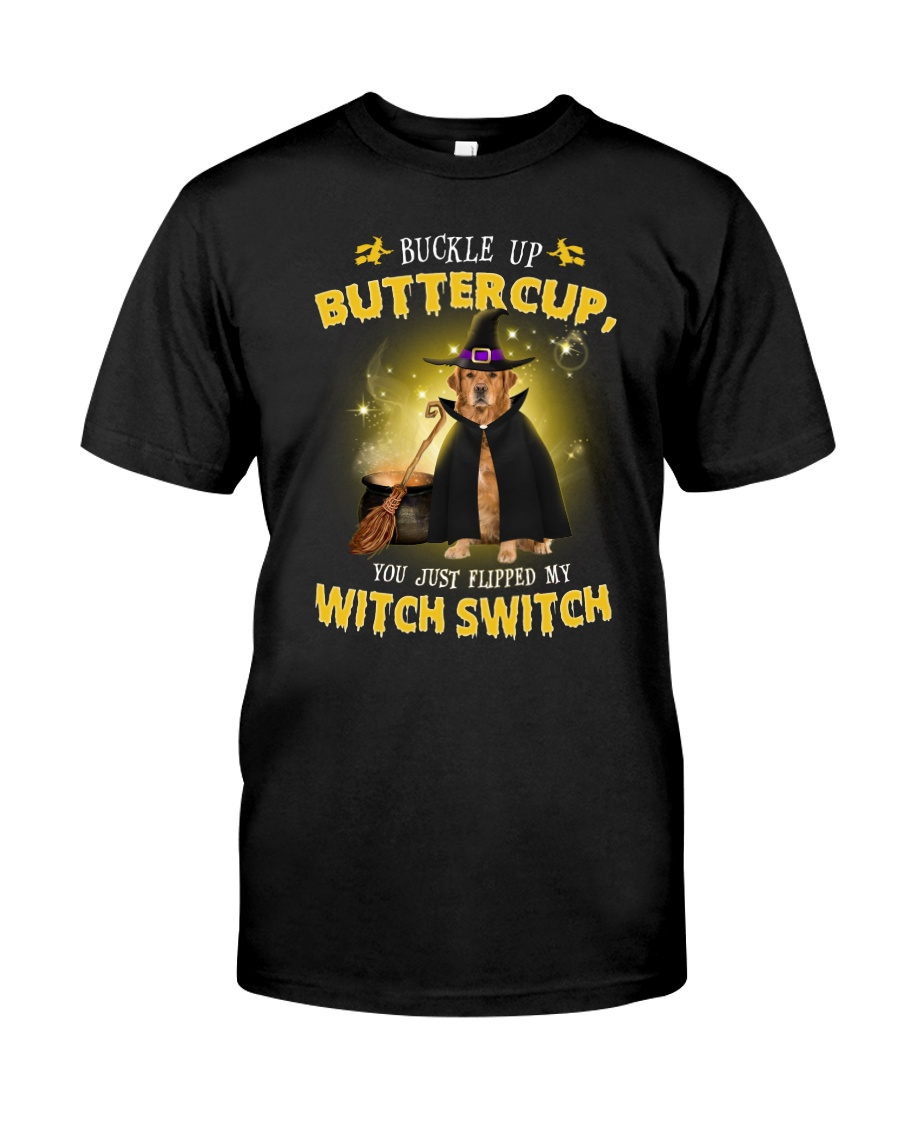 Golden Retriever and witch Classic T-Shirt