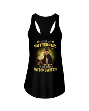 Golden Retriever and witch Ladies Flowy Tank thumbnail