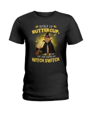 Golden Retriever and witch Ladies T-Shirt thumbnail